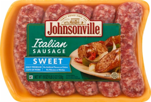 Johnsonville Sweet Italian Sausage Links Perspective: front