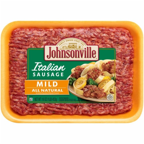 Johnsonville Mild All Natural Italian Ground Sausage Perspective: front