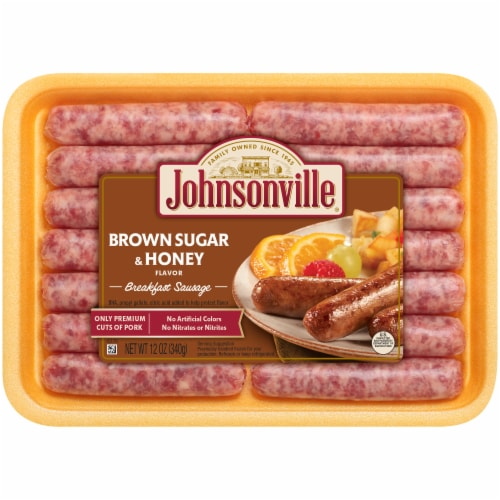 Johnsonville Brown Sugar & Honey Flavor Breakfast Sausage Links Perspective: front