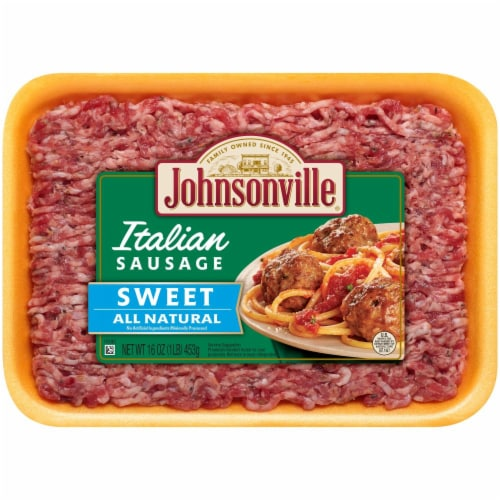 Johnsonville Sweet Italian Ground Sausage Perspective: front
