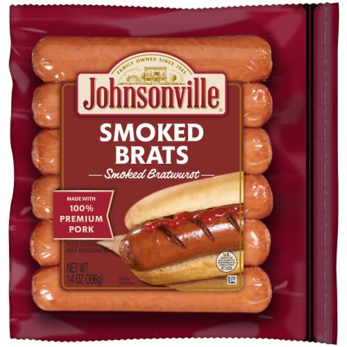 Johnsonville Smoked Bratwurst Perspective: front