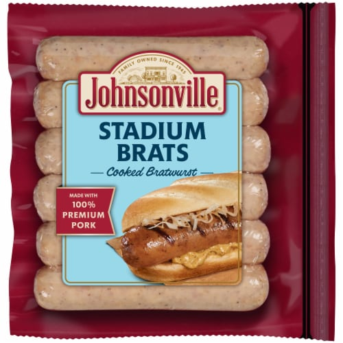 Johnsonville Cooked Stadium Bratwursts Perspective: front