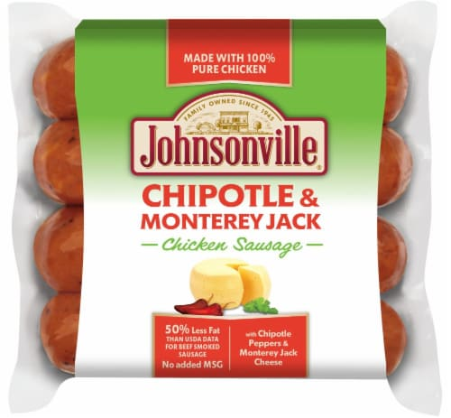Johnsonville Chipotle & Monterey Jack Chicken Sausages Perspective: front
