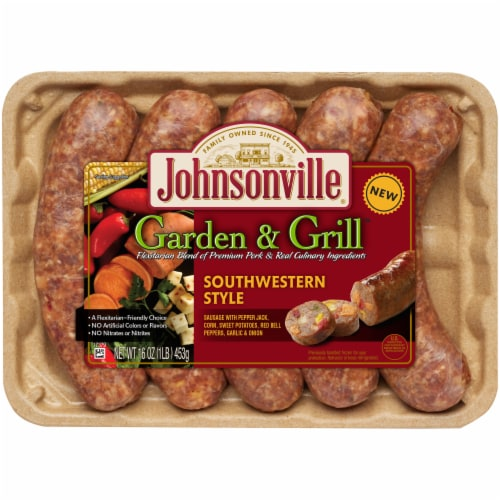 Johnsonville Garden & Grill Southwestern Style Sausages Perspective: front