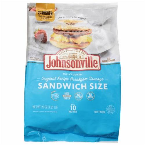 Johnsonville Original Recipe Sandwich Size Pork Sausage Patties Perspective: front