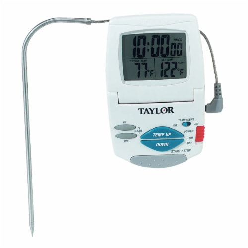 Taylor Precision Products 1470N Digital Cooking Thermometer and Timer Perspective: front