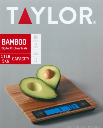 Taylor Bamboo Kitchen Scale - Natural Perspective: front