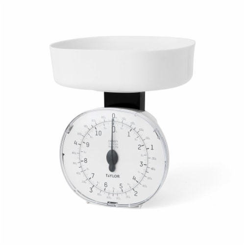 Taylor Mechanical Kitchen Scale - White Perspective: front