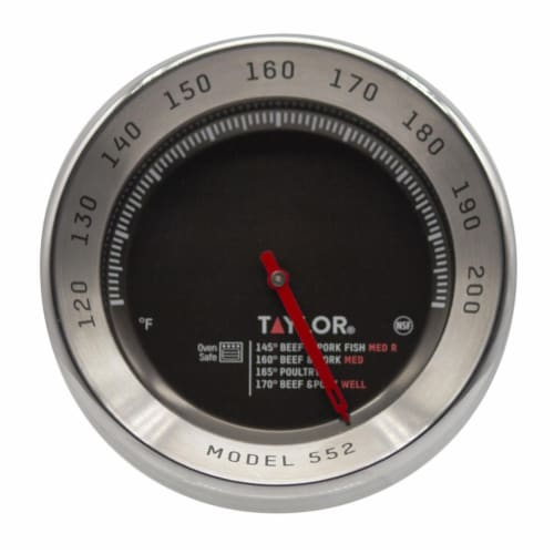 Taylor 6269666 Instant Read Analog Meat Thermometer Perspective: front