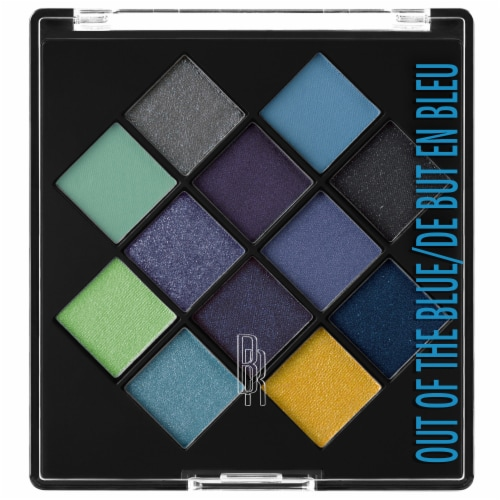 Black Radiance Eye Appeal Out of the Blue Eye Shadow Palette Perspective: front