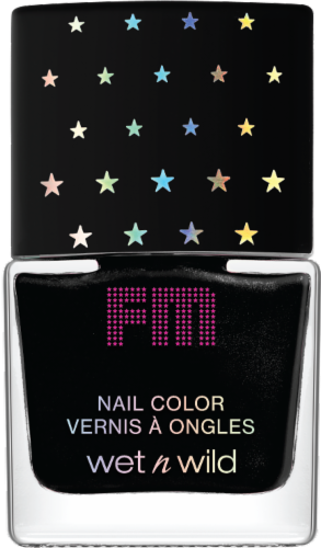 Wet n Wild Black Nail Polish Perspective: front