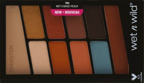 Wet n Wild Color Icon Not a Basic Peach Eyeshadow Palette Perspective: front