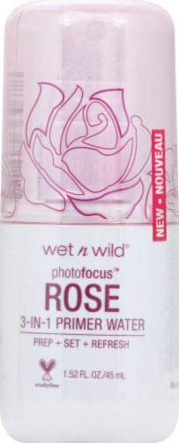 Wet n Wild Photo Focus 3-in-1 Rose Primer Water Perspective: front