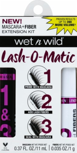 Wet n Wild Lash-O-Matic Very Black Fiber Extension Kit Perspective: front