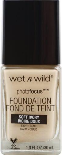 Wet n Wild PhotoFocus Soft Ivory Liquid Foundation Perspective: front
