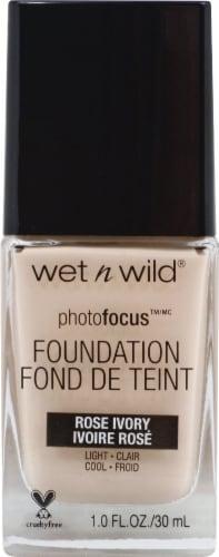 Wet n Wild Photofocus Rose Ivory Liquid Foundation Perspective: front