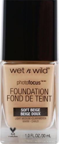 Wet n Wild PhotoFocus Soft Beige Liquid Foundation Perspective: front