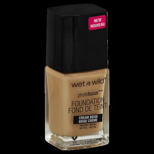 Wet n Wild PhotoFocus Cream Beige Liquid Foundation Perspective: front