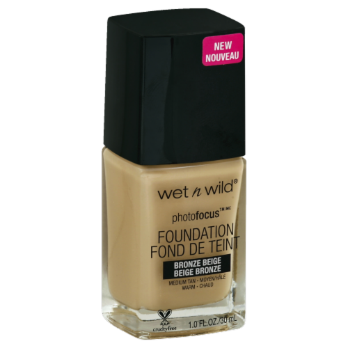 Wet n Wild PhotoFocus Bronze Beige Liquid Foundation Perspective: front