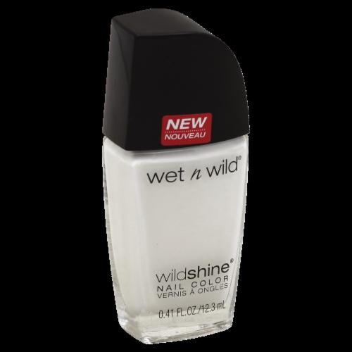 Wet n Wild Wild Shine French White Cream Nail Polish Perspective: front