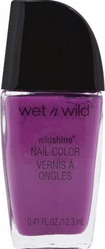 Wet n Wild Wild Shine Who is Ultra Violet Nail Polish Perspective: front