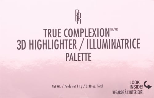 Black Radiance True Complexion Luminosity 3D Highlighter Palette Perspective: front