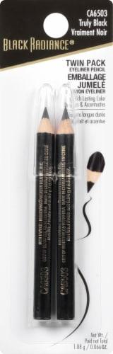 Black Radiance Twin Set Eyeliner - Truly Black Perspective: front
