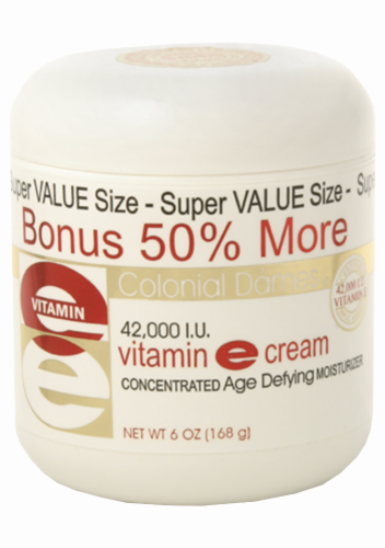 Colonial Dames Vitamin E Cream Concentrated Age Defying Moisturizer Perspective: front
