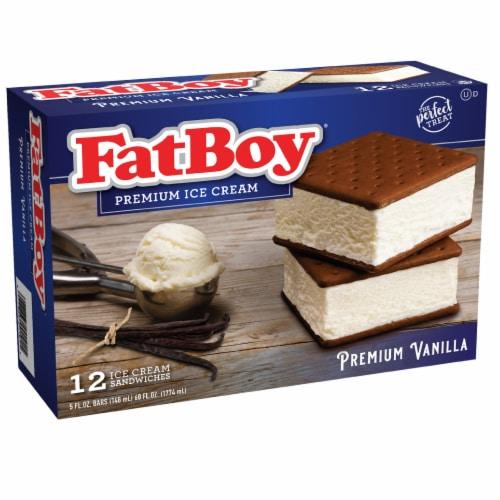Fat Boy Vanilla Ice Cream Sandwiches Perspective: front