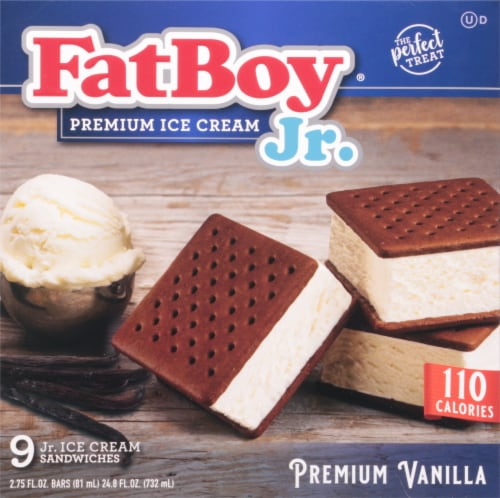 Fat Boy Vanilla  Junior Ice Cream Sandwich Perspective: front