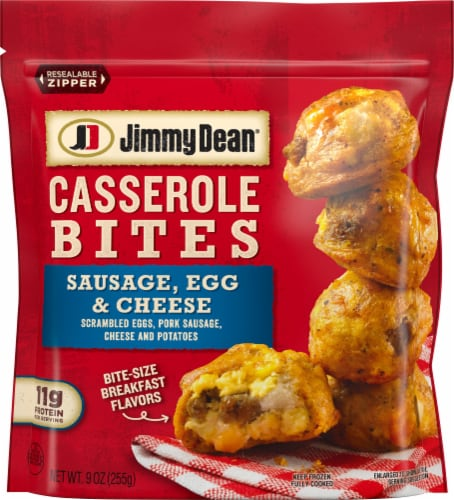 Jimmy Dean Sausage Egg & Cheese Casserole Bites Perspective: front