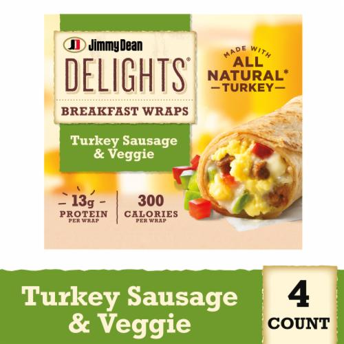 Jimmy Dean Delights Turkey Sausage & Veggie Breakfast Wraps Perspective: front