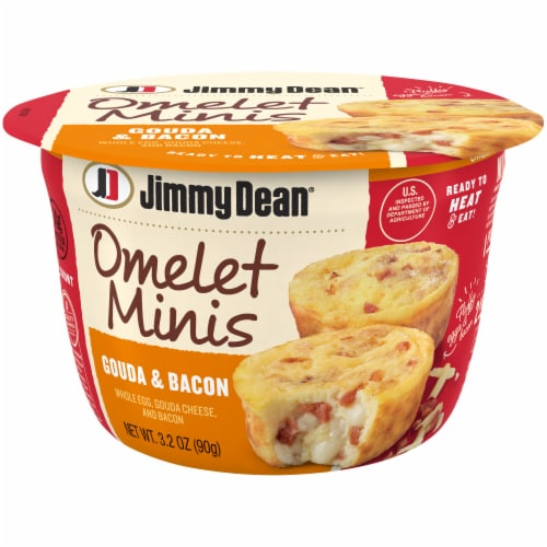 Jimmy Dean Omelet Minis Gouda & Bacon Breakfast Cup Perspective: front