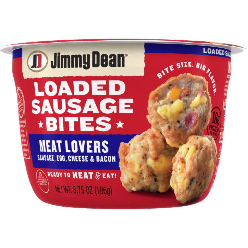 Jimmy Dean Meat Lovers Loaded Sausage Bites Perspective: front