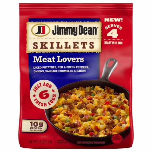 Jimmy Dean Meat Lovers Skillets Perspective: front