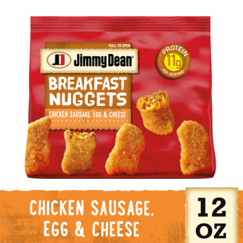 Jimmy Dean Chicken Sausage Egg & Cheese Breakfast Nuggets Perspective: front