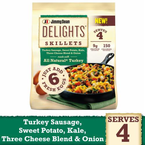 Jimmy Dean Delights Turkey Sweet Potato Kale & Cheese Skillet Frozen Meal Perspective: front