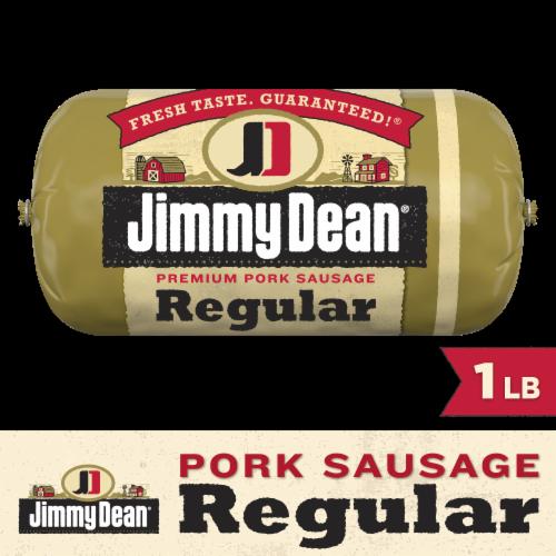 Jimmy Dean Regular Premium Pork Sausage Roll Perspective: front