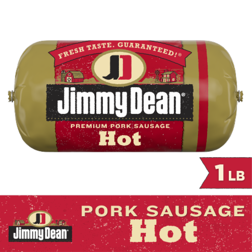Jimmy Dean Premium Pork Hot Sausage Roll Perspective: front
