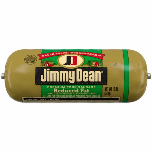 Jimmy Dean Reduced Fat Premium Pork Sausage Roll Perspective: front
