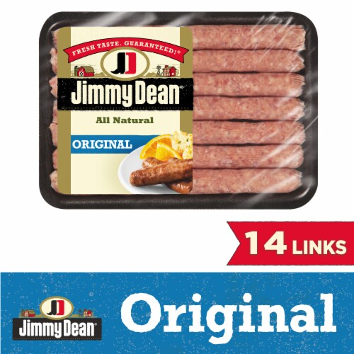 Jimmy Dean Premium All Natural Pork Sausage Links Perspective: front