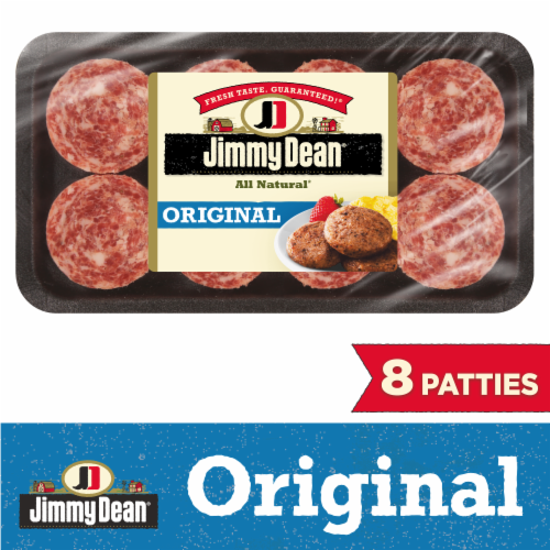 Jimmy Dean Premium All Natural Pork Sausage Patties Perspective: front