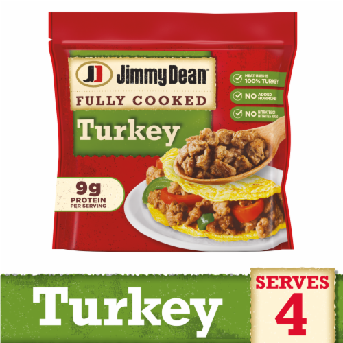 Jimmy Dean Fully Cooked Turkey Sausage Crumbles Perspective: front