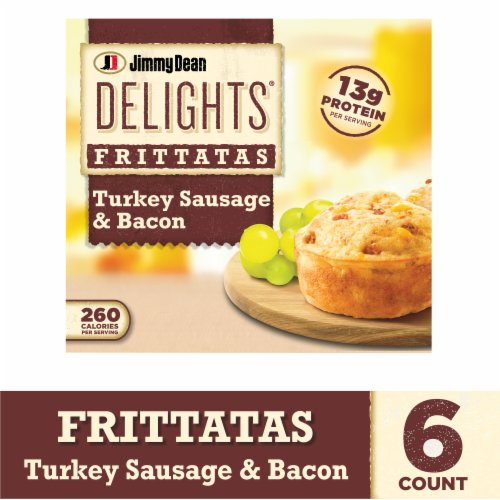 Jimmy Dean Delights Turkey Sausage and Bacon Frittatas Perspective: front