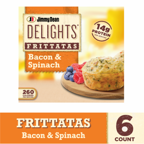 Jimmy Dean Delights Bacon and Spinach Frittatas Perspective: front