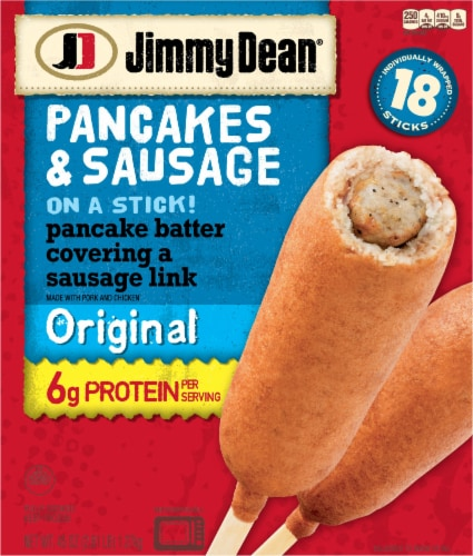Jimmy Dean Original Pancakes And Sausage On A Stick 18 Ct 45 Oz Food 4 Less