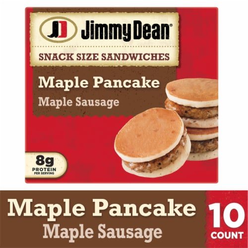 Jimmy Dean Snack Size Maple Pancake & Sausage Sandwiches Perspective: front