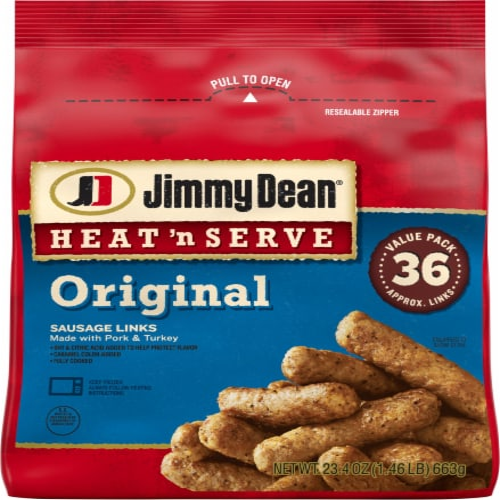 Jimmy Dean Heat 'N Serve Original Sausage Links Perspective: front
