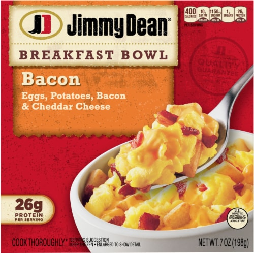 Jimmy Dean Bacon Egg & Cheese Breakfast Bowl Perspective: front