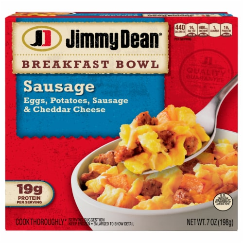 Jimmy Dean Sausage Egg & Cheese Breakfast Bowl Perspective: front